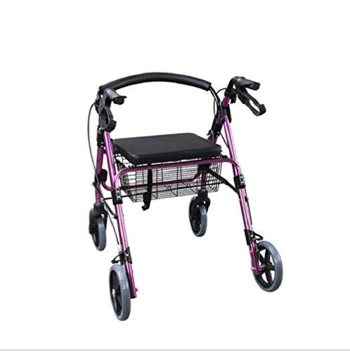 Vier-Rad-Sitzplatte Wanderer FS965LH-A Aluminium-Legierung für die ältere Shopping, Einkaufstrolley