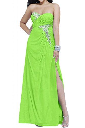 Toscana sposa Chic a forma di cuore kraftool Chiffon sposa giovane a lungo per abiti da sera un'ampia Party ball vestimento Verde