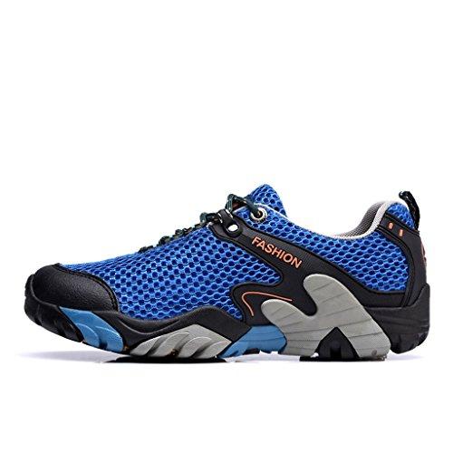 2017 Hommes Automne Hiver Sneakers En Plein Air Confortable Chaussures De Marche Antidérapant 39-44 Bleu