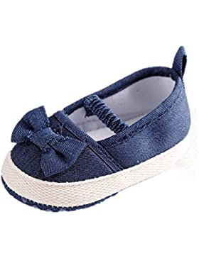 Zapatos para bebé Auxma Zapatos de Bowknot suave suave de las muchachas de los bebés zapatillas de deporte inferiores...