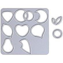 Logres Kit de frutas Metal tarjeta de plantillas de corte diseño de álbum de recortes DIY Craft Craft Decor