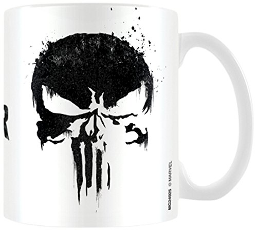 The Punisher Tête de mort Mug à café, céramique, multicolore, 7.9 x 11 x 9.3 cm