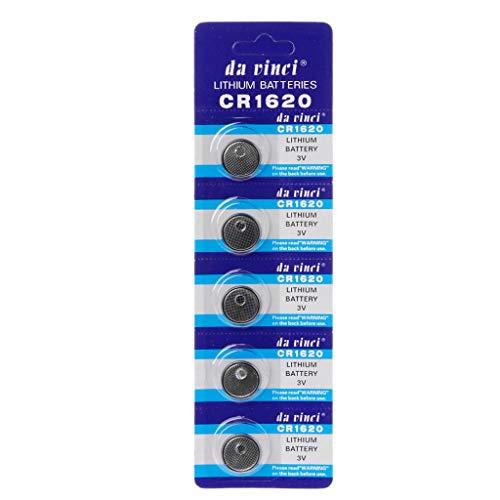 Brilcon Knopfzelle CR1620 3 V Lithium-Batterie Runde Knopfzelle Batterie für Uhren Uhren Controller Spielzeug Hohe Energiedichte Haushalt Batterie Alkaline Batterie