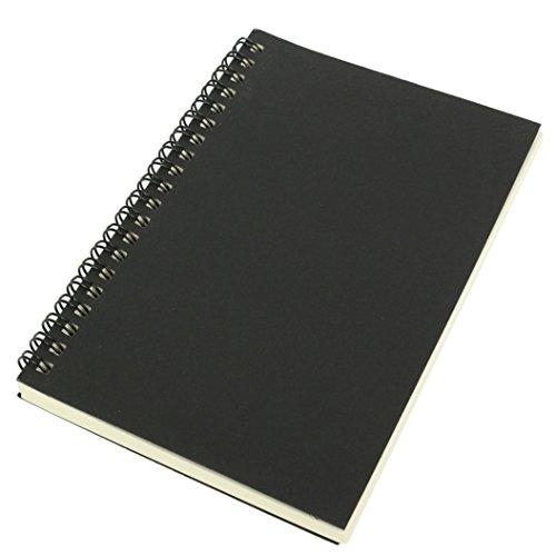 buyanputra Retro Kraft Spirale Notizbuch Bindung blanko Graffiti Einband Notizbuch, Drahtkammbindung Black Cover + White Paper Black Cover + White Paper