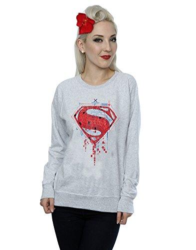 DC Comics Donna Batman v Superman Geo Logo Felpa X-Large Sport Grigio