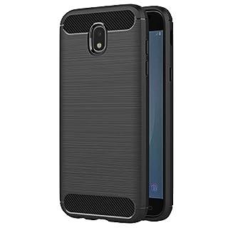 AICEK Samsung Galaxy J5 2017 Hülle, Schwarz Silikon Handyhülle für Samsung J5 2017 Schutzhülle Karbon Optik Soft Case (5,2 Zoll SM-J530F)