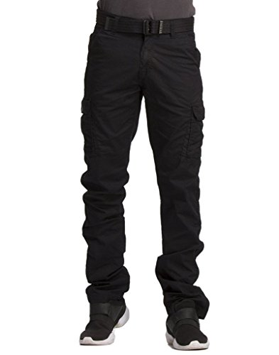 Krystle Black Men's Cotton Cargo Pants Size 32