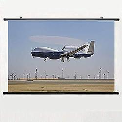 PALOMA NIEVES Mq 4C Triton Mq 4C Drone Surveillance UAV USA Army Landingwall Scroll Poster 24 X 16 inch