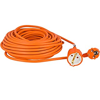 Câble Rallonge Electrique Extérieur Prolongateur Orange Jardin Jusqu'à 3500W 16A Ménager Prise Electrique (20 M)