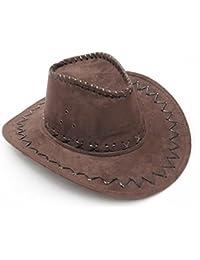 NYKKOLA Western Authentic Gunslinger Hat Suede Cowboy Hat Unisex b0047142e663