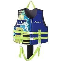 Hony Childs Traje de Baño Traje Flotante Niños Chaqueta - Chicos Chicas Ayudas de Natación Ajustable Aprender a Nadar Piscina Buceo Playa Surf La Seguridad Rosado Azul Naranja