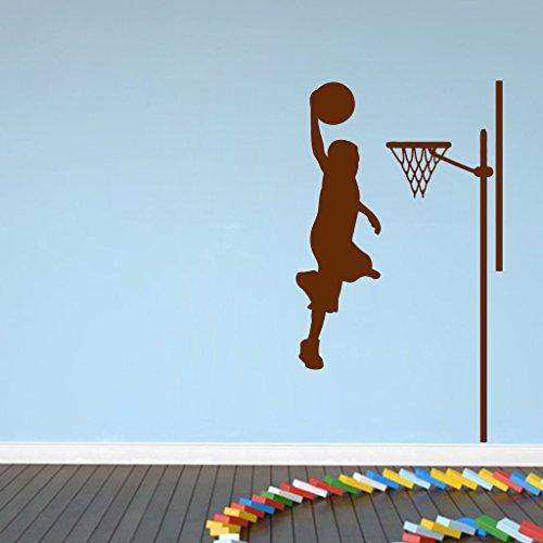 Decor villa Decor villa Play basketball Wall decal & sticker Brown Color Small size - 35*30 Cm