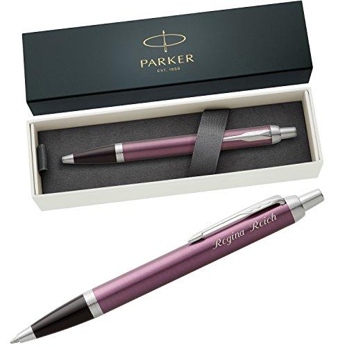 PARKER Kugelschreiber IM Light Purple C.C. 1931634 mit persönlicher Laser-Gravur