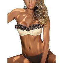 Elegant de encaje Split Bikini de la mujer