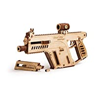 Wood Trick Assault Rifle Gun Wooden Model - Toy Gun, Guns for Kids - 3D Wooden Puzzle Mechanical Model to Build, Wooden Toys, Brain Teaser for Kids and Adults