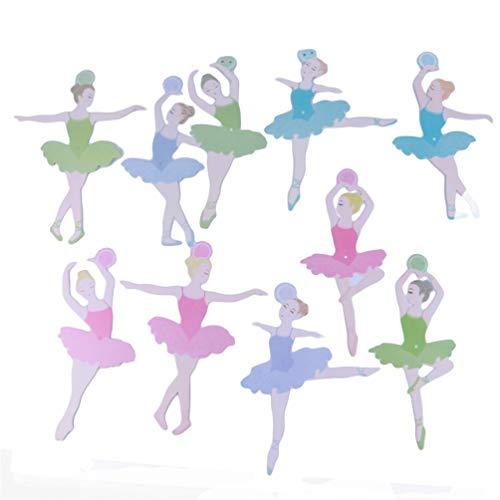 KYMLL Geburtstagskuchen Bunting Flag Topper Ballerina Zahnstocher Wrap Dekorationen Kits Balletttänzerin Party Supplies Baby Mädchen