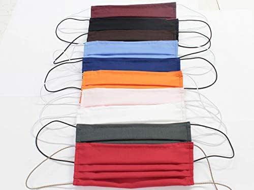10 Mascherine artigianali in doppio strato di puro cotone colori assortiti con tasca per inserimento ulteriore protezione COLORI PERSONALIZZABILI