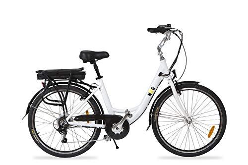 Cityboard NWG Bicicleta Eléctrica, Unisex Adulto, White, 26 Pulgadas