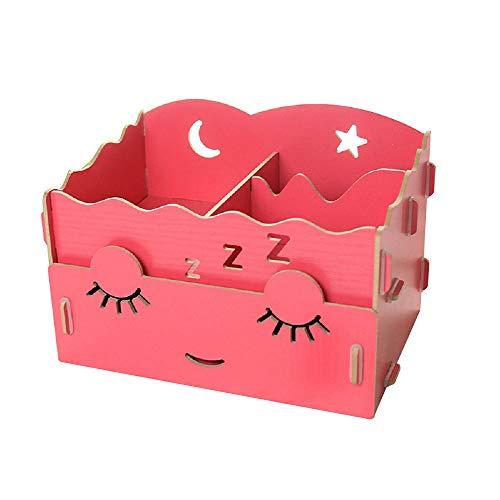 SanQing Makeup Organizer DIY Holzkosmetikbox, Schmuckschatullen, Aufbewahrungsboxen für Kosmetika, Hautpflegeprodukte, Makeup Tools, Schmuck, Kleinigkeiten,Red