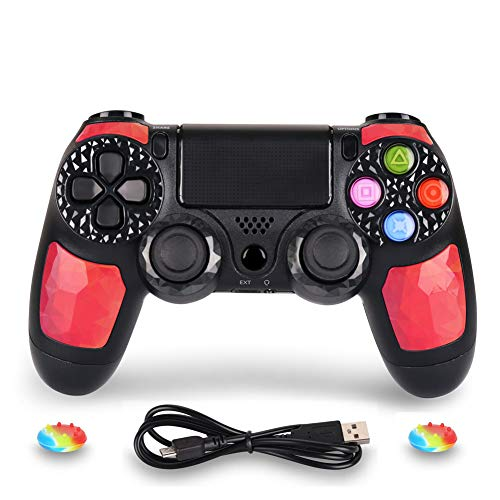 OUBANG Playstation DualShock 4 Controller PS4 Controller kabellose Fernbedienung mit Micro-USB-Ladekabel für Playstation 4/PS4 Pro/PS4 Slim/PC/PS TV (Royalblau)