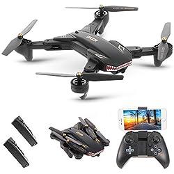 Goolsky VISUO XS809S Wifi FPV Drone con 2.0MP cámara gran angular One Key Return Altitude Hold G-sensor Quadcopter con una batería extra