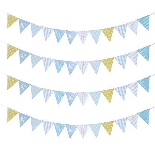 Anladia 4Pcs Fiesta de cumpleaños Guirnalda banderines banderines Habitaciones Decoración Multicolor 3