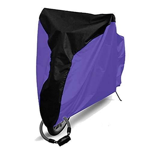 czos88 Fahrrad-Abdeckung, UV-Schutz, Outdoor-Schutz für Fahrrad, S-XL, Regenschutz, wasserfest, Schwarz/Violett
