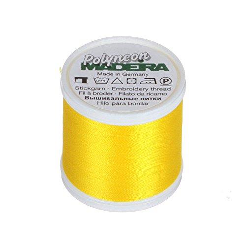 MADEIRA 9845-- 19242-lagig Polyneon Polyester Stickgarn, 40wt/135D 440YD, gelb -