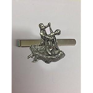BALLROOM Dancers pp-g08English Pewter Emblem auf eine Krawatte Clip (Slide)