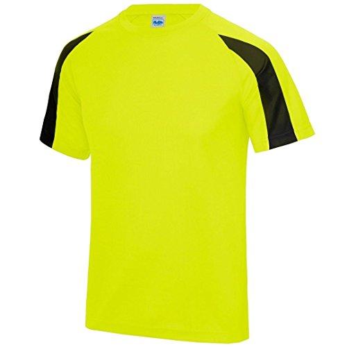 AWDis Cool Contraste Cool T - Electric Yellow/ Jet Black