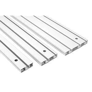 2 Meter  Gardinenschiene   PVC  weiß   2000x35mm   Hexim   OM-1