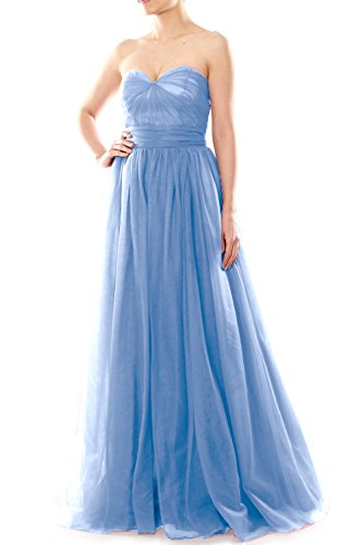 MACloth - Robe - Trapèze - Femme Bleu - Bleu ciel