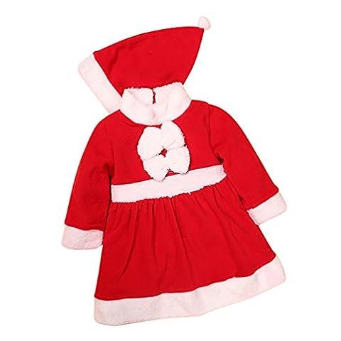 Bébé Père Noël Chapeaux - CHENGYANG Déguisement Père de Noël pour Bébé