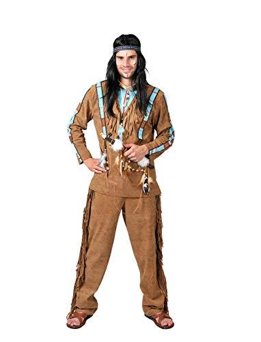 Indianer Kostüm Pow Wow Fasching Ureinwohner Amerika Indianerkostüm der Jäger Gr M, L, XL, XXL (60/62)