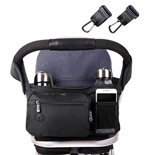 Eono by Amazon - Kinderwagen-Aufbewahrungstasche mit extra großem Stauraum für iPhones, iPads, Brieftaschen, Windeln und Spielzeug