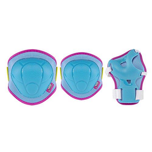 Nils Schonerset Protektoren Schutzausrüstung Inline Skates Rollschuhe Schüter SET Handgelenk-,Ellbogen-, Knieschoner H106 (Blau, S)