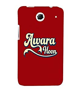 Takkloo awara hoon red background,trendy quote, funny quote) Printed Designer Back Case Cover for Lenovo K880