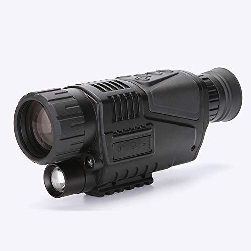 JYXZ Digital de Visión Nocturna Monocular Scope 5X40 Infrarrojo IR Camara Grabación Imagen y Vídeo Reproducción Función 8GB TF Tarjeta para Equipo de Caza, Black