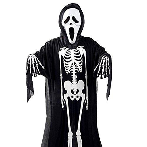 BeYself Halloween Kostüm Schrei Kostüm Skeleton Schädel Evil Devil Ghost Robe Halloween Kostüm für Kinder