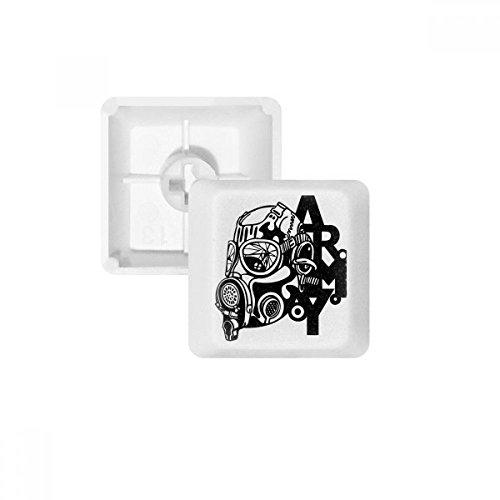 Luftverschmutzung Gas Maske Armee Silhouette PBT Tastenkappen für Mechanische Tastatur Weiß OEM-Nr. Markieren Print Mehrfarbig Mehrfarbig R3 (Arm-silhouette)