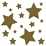 kleb-Drauf | 18 Sterne | Gold - matt | Autoaufkleber Autosticker Decal Aufkleber Sticker | Auto Car...