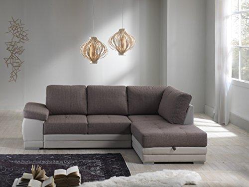 Divano Letto Angolare In Tessuto.Divano Letto Angolare Mod Venezia Con Chaise Lounge Dx Bicolor
