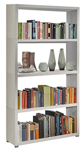 Regalsystem Raumteiler Bücherregal Standregal READY 42B Weiß Seidenmatt