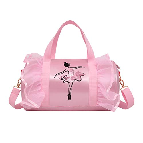 FENICAL Mädchen Ballett Tasche Schulter Dance Bag Duffle Bag Tote Messenger Bag für Ballerina Tänzer Ballerina Duffle Bag