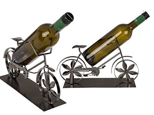 MC Trend Wein-Flaschen-Getränke-Halter Fahrrad Bike Rad Hobby Metall-Deko Geschenk-Idee Freunde (Bike-skulptur)