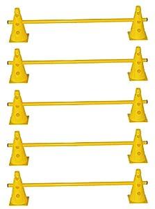 agility sport pour chiens - lot de 5 haies de coordination, jaune - 10x MZK23y 5x 100y