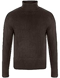 Mens Cutting Edge Basic Super Soft Polo / Turtle Neck Knitted Winter Jumper. Style - MA2383. Colour - Pale Chocolate. Size - Xlarge