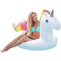 Wasserspielzeug DisQounts Aufblasbare Einhorn // Unicorn Luftmatratze Schwimmtier
