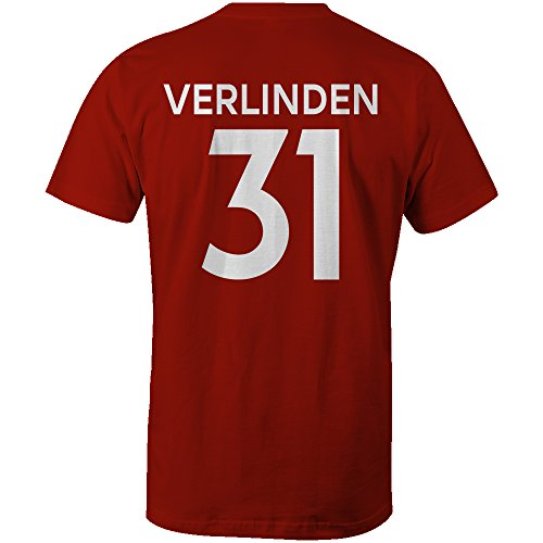 Thibaud Verlinden 31 Club Player Style Kids T-Shirt Red/White