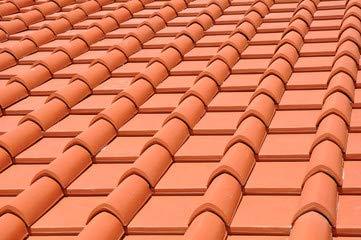 "Alu-Dibond-Bild 120 x 80 cm: ""neues dach, dachziegel, tonziegel"", Bild auf Alu-Dibond"
